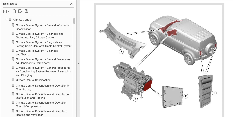 New Land Rover Defender L633 3L Petrol PDF Workshop ...